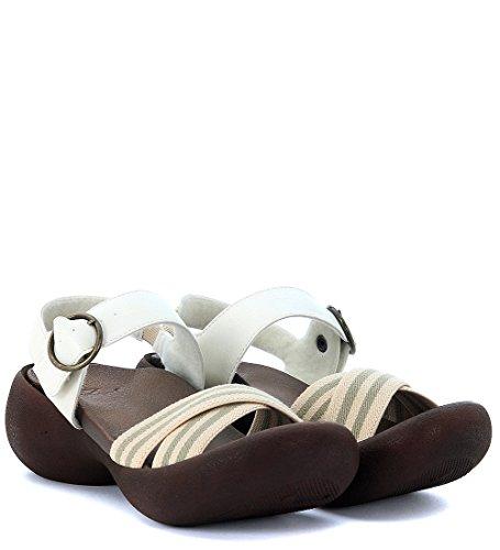 Sandalia Regetta Canoe Gerbera en piel vegana blanco marfil Blanco