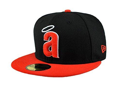 NEW ERA MLB Anaheim Angels Black/orange 59fifty Fitted Cap (6 7/8)