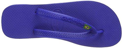 Havaianas Zehentrenner Damen/ Herren Brasil Logo Blau (Brasil Logo Marine Blue)