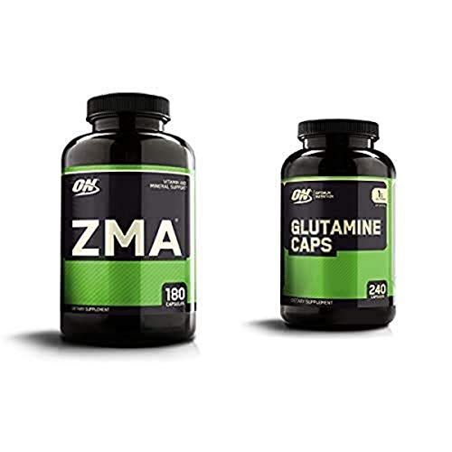 OPTIMUM NUTRITION ZMA, Zinc for Immune Support, Muscle Recovery and Endurance Supplement for Men and Women, Zinc and Magnesium Supplement & L-Glutamine Muscle Recovery Capsules