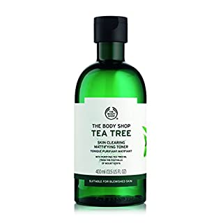The Body Shop Tea Tree Skin Clearing Mattifying Toner, 13.5 Fl Oz (Vegan)