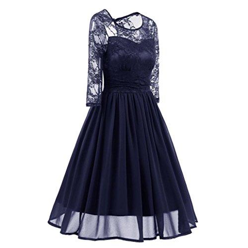 robe fille grande pas robe hiver printemps taille de femme vetement soire sexy de chic dentelle FRYS femme pour Robe princesse cher robe cocktail fashion vintage robe Bleu Femme mariage Hqpvt