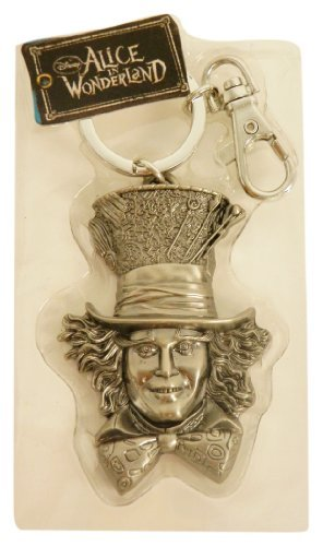 Disney Pewter Key Ring - Mad Hatter Face by Disney
