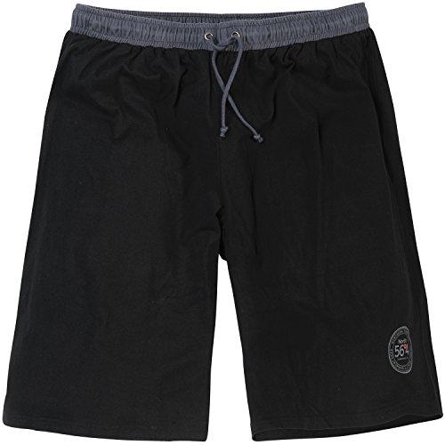 da a jogging 8xl 56 formato fino Pantaloncino largo uomo nero di 4 ° da Grande Allsize nTxxaqB