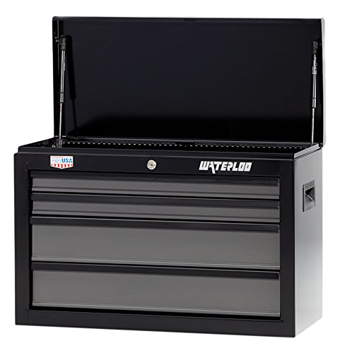 Waterloo W100 Series 4-Drawer Tool Chest with Full Extension Ball-Bearing Drawer Slides, 26