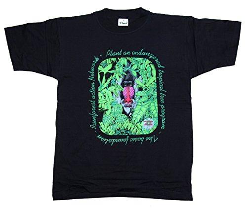 T-Shirt Rainforest Action Network Pavian Baumwolle Siebdruck Original 1990er Jahre erhältlich in den Größen M, L, XL und XXL (XL)