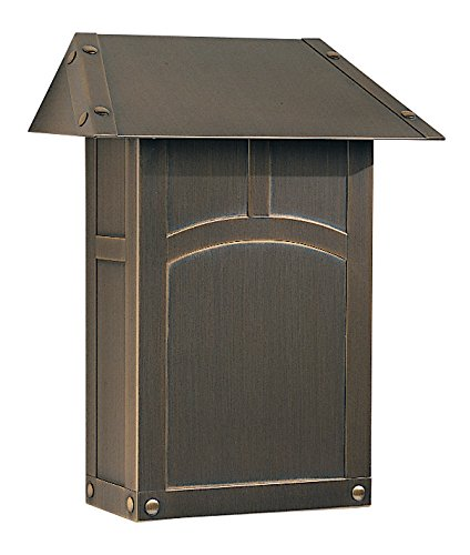 Arroyo Craftsman EMB-AB Evergreen Mail Box-Vertical, Antique Brass Metal Finish by Arroyo Craftsman