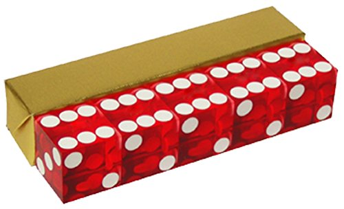 Red Casino Craps Dice 19mm Grade Set of 5 Razor Edge Stick by IDS