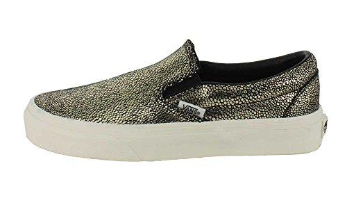 Chaussures Doré ON Dots Noir SLIP VANS CLASSIC Gold vwqFfZ1