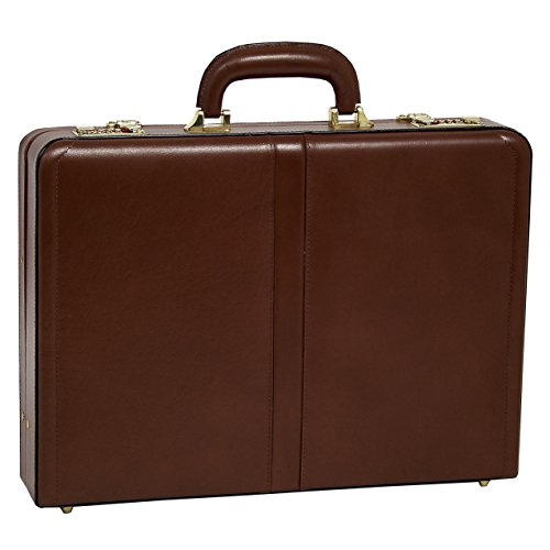 McKlein, V Series, Reagan, Top Grain Cowhide Leather, Leather 3.5' Attaché Briefcase, Black (80445)