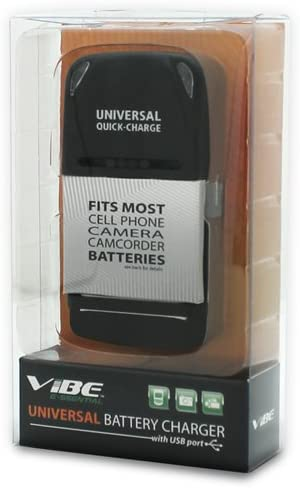 Universal Battery Charger Fits Most Cell Phone Camcorder Camera Batteries