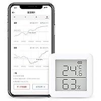 SwitchBot スイッチボット デジタル 温湿度計 スマート家電 – 高精度 スイス製センサースマホで温度湿度管理 アラーム付き グラフ記録 Alexa, GoogleHome, IFTTT対応 (ハブ必要) SwitchBot 室温度計/