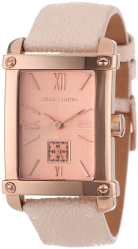 Vince Camuto Women's VC/5010RGPK Rose-Gold Stainless Steel Watch with Pink Leather Band