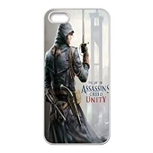 iPhone 5,5S Phone Case White Assassin's Creed Unity ZCC587864