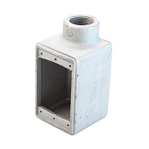 Crouse-Hinds FD3 Copper-Free Condulet Single Gang Cast Device Box, 1-Inch (2 Pack) ()