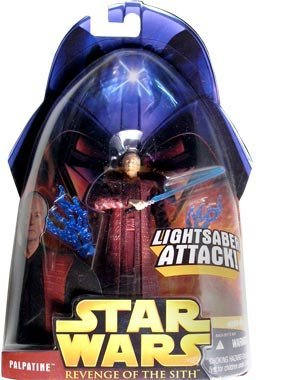 Star Wars Revenge of the Sith Palpatine with Blue Lightsaber #35 Action Figure