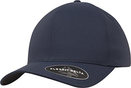 Gorra de Béisbol Flexifit Delta, Gorra Unisex de poliéster para Hombres y Mujeres, sin Costuras, Impermeable azul marino