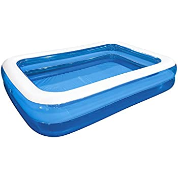 jilong rectangular family inflatable pool for ages 6 blue 103 x 69 - Rectangle Inflatable Pool