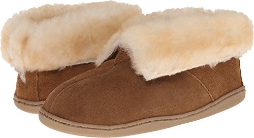 Minnetonka Women's Sheepskin Ankle Boot Golden Tan 11 W US (Boot Slippers Ankle Sheepskin)