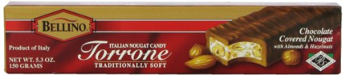 Bellino Chocolate Covered Torrone (Nougat), 5.3 Ounce (Chocolate Covered Nougat)