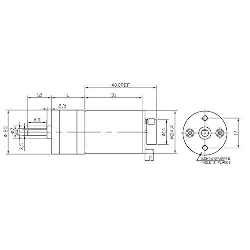 Dovewill High Torque DC 6V, 12V, 24V, 190RMP-1930RMP Encoder Gear-Box Electric Motor Replacement - Silver, DC12V 250RMP by Dovewill (Image #3)