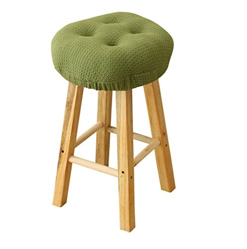 Olywell 12'' Round (31cm) Bar Stool Cover, Breathable Fabric to Protect or Make Your Stool Chairs New,Suitable for Adjustable Stool/Round Wooden Chair by Olywell