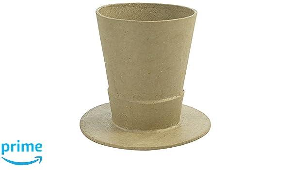 01a0cad955c5e Décopatch - Jarrón Sombrero de cartón marrón Waterproof
