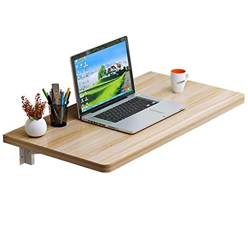 Solid Wood Folding Dining Table, Table-Mounted Double Support Computer Desk, Multi-Function Table, Folding Table (Size : ()