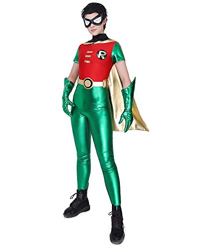 Miccostumes Men's Robin Cosplay Costume (MM)]()