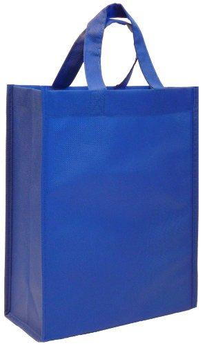 Reusable Gift Bags, Medium, 6 Pack (Royal Blue)
