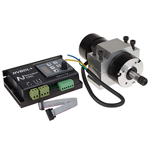 - UCONTRO 400W 24-60V DC ER8 CNC Brushless Spindle Motor Driver Kit no Hall w/Panel & Mount