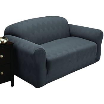 Stretch Sensations Optic Sofa Stretch Slipcover, Gray