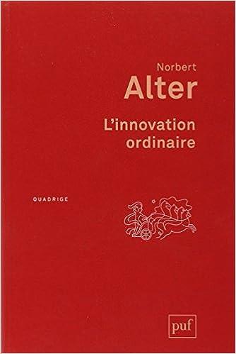 Livre gratuits L'innovation ordinaire pdf