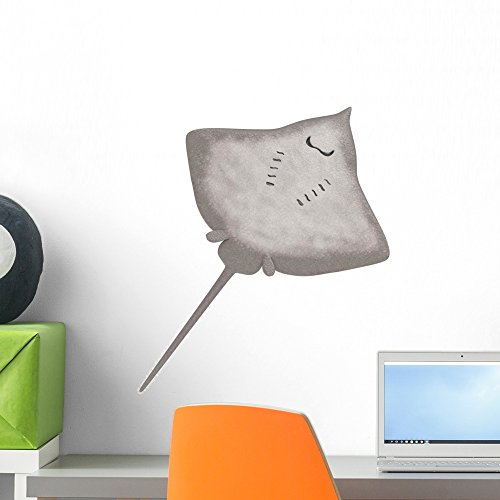 Wallmonkeys Stingray Animal Wall Decal Peel and Stick Graphic (18 in H x 18 in W) WM352062 (Stingray Animals)