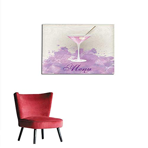 homehot Poster Wall Decor Martini menu on Abstract Background Mural 32