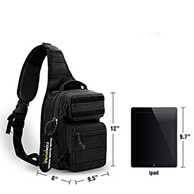 POLAR HAWK Tactical Sling Backpack Tactical Rover Sling Pack Sling Bag Made of Real US Cordura Fabric Works Great as a Pistol Range Bag Tactical Assault Pack or Day Pack for Daily Use