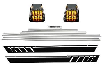 Kitt stickerw463 LED Turning Luces añadir en tiras de puerta molduras adhesivo adhesivos negro Pearl: Amazon.es: Coche y moto