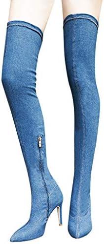 [해외]Aurorax 2019 Womens Winter Fashion Sexy Denim Long BootiesWarm Over Knee Thin Heels Shoes Long Tube Boots / Aurorax 2019 Womens Winter Fashion Sexy Denim Long BootiesWarm Over Knee Thin Heels Shoes Long Tube Boots