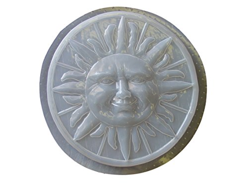 Large Round Sun Concrete Plaster Stepping Stone Mold 1152