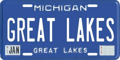 Vintage 1946 Great Lakes Michigan Aluminum License Plate by Vintage 1946