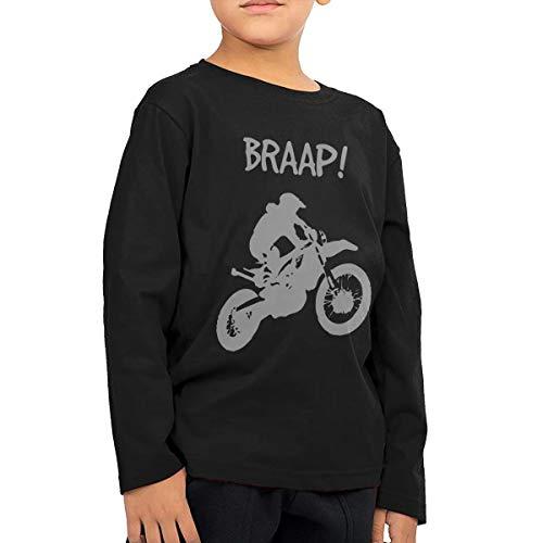 Toddler Children's Dirt Bike - Motocross-2 Printed Long Sleeve 100% Cotton Infants Tops Black