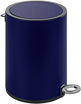 18.5  x  24.5  x  25.5 cm Wenko 22715100 Pattumiera a pedale Monza 3L in acciaio inox//PP//ABS Dark Blue