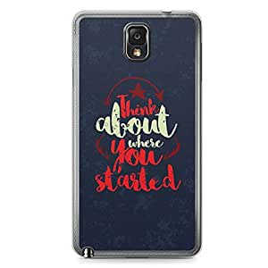 Inspirational Samsung Note 3 Transparent Edge Case - Think about where you started