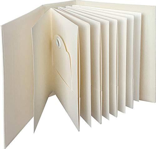 Graphic 45 4501813 ATC Rectangle Tag & Pocket Ivory Album