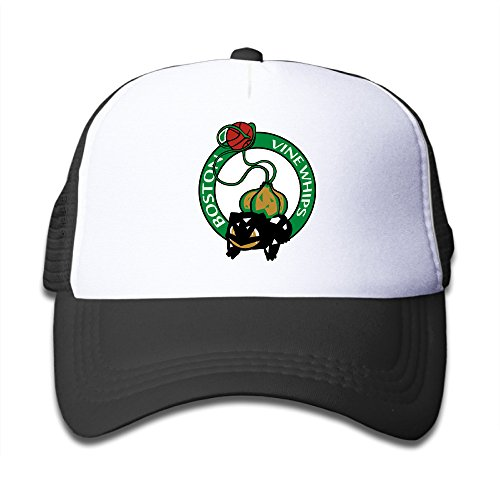 black-youth-boston-vine-whips-funny-adjustable-baseball-hat-for-boys-and-girls-one-size