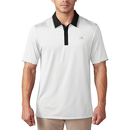 adidas Golf Men's Golf Climacool Performance Polo Shirt, White/Black, XX-Large ()