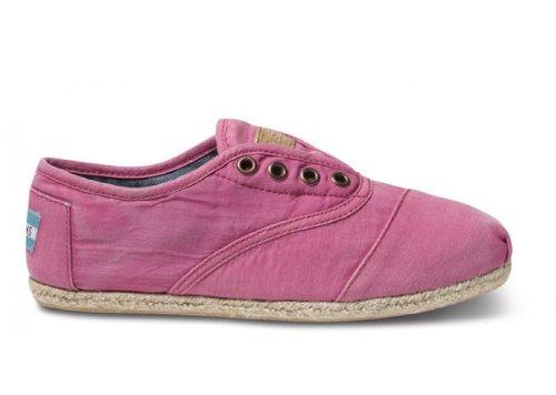 TOMS Women's Cordones Shoe Pink Ceara Size 5.5 B(M) US