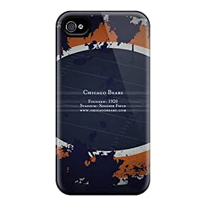 Best Hard Cell-phone Case For Iphone 4/4s With Custom Beautiful Chicago Bears Image AnnaDubois