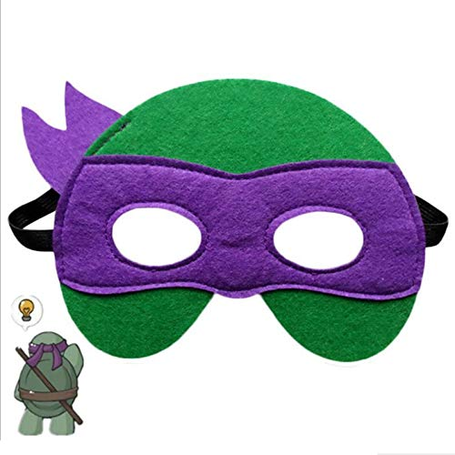 Ninja Turtle Masks Boys Girls 12 Felt Toy Masks,Cosplay Birthday Party Ninja Turtles Supplies Favors