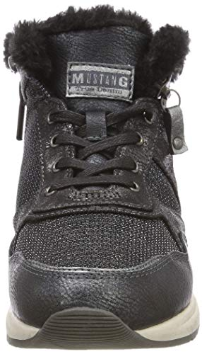 Mustang High graphite Sneaker 259 Top Mujer Zapatillas Para Altas Gris RF1Rqrw